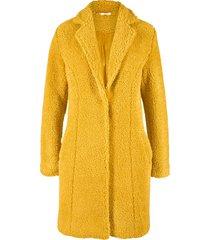 cappotto corto effetto peluche (giallo) - bpc bonprix collection