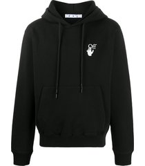 off-white pascal arrows slim-fit hoodie - black