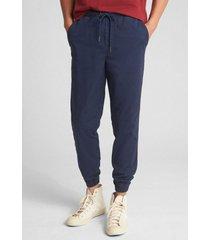 pantalon jogger hombre azul gap