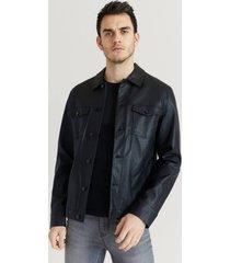 jacka trucker jacket fake leather