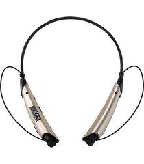audífonos inalámbricos, auriculares audifonos bluetooth manos libres  estéreo universal con micrófono inalámbricos estilo cuello para el teléfono móvil (oro)