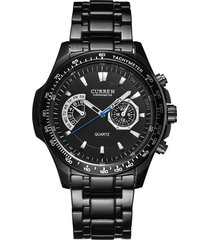 reloj curren 8020 hombres cuarzo militar 3atm negro