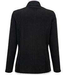 fleecejacka dress in svart::vit