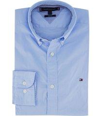 lichtblauw overhemd tommy hilfiger slim fit