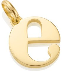 alphabet pendant e, gold vermeil on silver