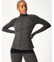 power reflective workout zip through jacket