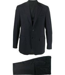 canali single breasted formal suit - blue