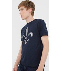 camiseta dudalina dudal azul-marinho