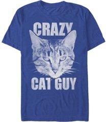 fifth sun men's cat guy short sleeve crew t-shirt