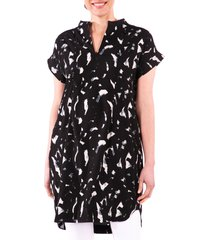 women's loyal hana cybelle print maternity/nursing dress, size large - black
