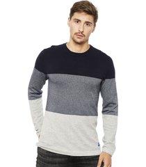 sweater jack & jones jorflash knit multicolor - calce regular