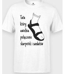 koszulka skarpetki + sandały