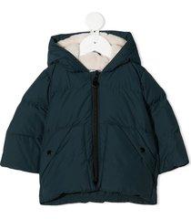 bonpoint hooded long sleeve jacket - green