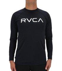 camiseta rvca lycra m/l micro mesh black