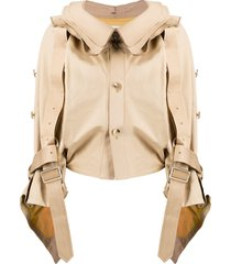 junya watanabe twisted trench jacket - neutrals