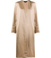 antonelli open-front midi coat - neutrals