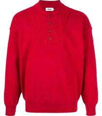 palace dondadda knit sweatshirt - red
