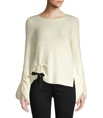 fisherman cinched waist sweater