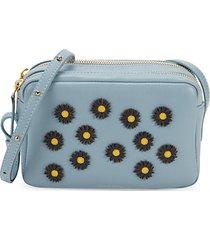 daisy double-zip leather crossbody bag