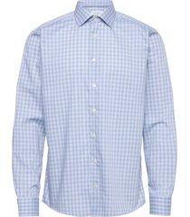 contemporary fit blue lightweight twill shirt skjorta business vit eton
