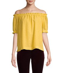 latern sleeve off-the-shoulder top