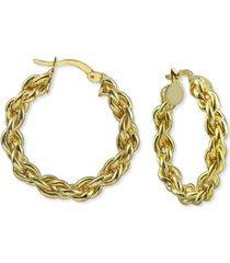 "argento vivo medium (1-1/4"") rope hoop earrings in 18k gold-plated hoop earrings"