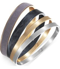 inc international concepts two-tone 4-pc. set mixed bangle bracelets, created for macy's
