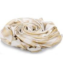 givenchy logo scarf brown, beige sz: