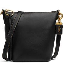 coach archival 20 duffle leather shoulder bag - black