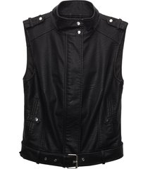 matt & nat leslie sleeveless vegan jacket, black