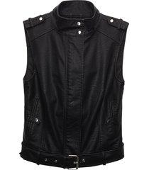 matt & nat leslie sleeveless vegan jacket, black