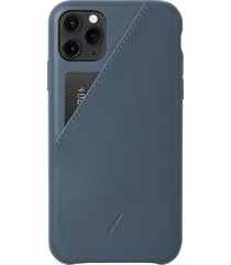 native union clic card iphone case - navy - iphone 11 pro max