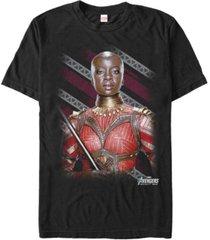 marvel men's the avengers infinity war okoye wakanda's finest warrior short sleeve t-shirt