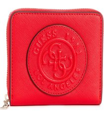 billetera celestine slg small zip around rojo guess