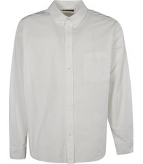 balenciaga back logo print long-sleeved shirt