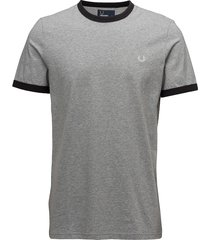 ringer t-shirt t-shirts short-sleeved grå fred perry