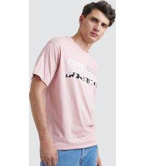 camiseta para hombre cure denim color rosado, talla l