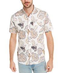 levi's men's button-down paisley shirt