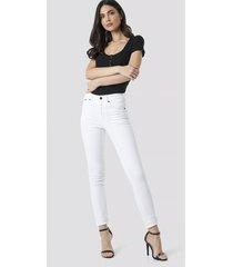cheap monday high skin jeans - white
