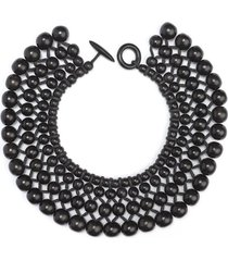 four layer beaded necklace, women's, josie natori