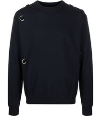 jil sander d-ring wool jumper - blue
