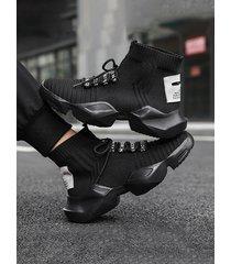 zapatillas de deporte de media caña lisas para hombre