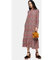 multicoloured peplum smock shirt dress - multi
