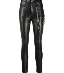 ermanno scervino faux leather skinny trousers - black