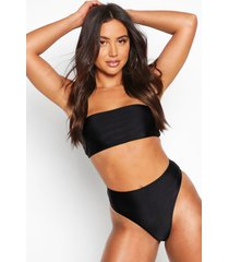 mix & match bandeau bikini top, black