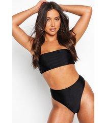 mix & match bandeau bikini top, black