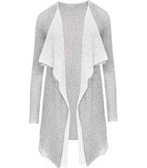 lekki sweter mgła rosa podwójny jasny szary