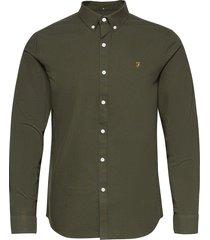 brewer long sleeved slim fit shirt skjorta casual grön farah
