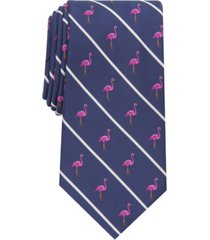 club room men's flamingo slim stripe tie, created for macy's