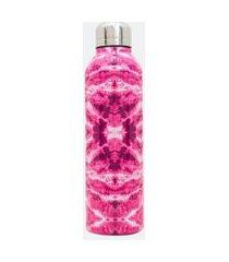 garrafa térmica aço inoxidavel estampa tie dye | accessories | rosa | u